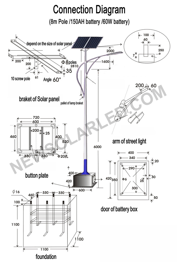 Solar Street Light Connection Diagram